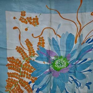 Christian Dior blue flower scarf.